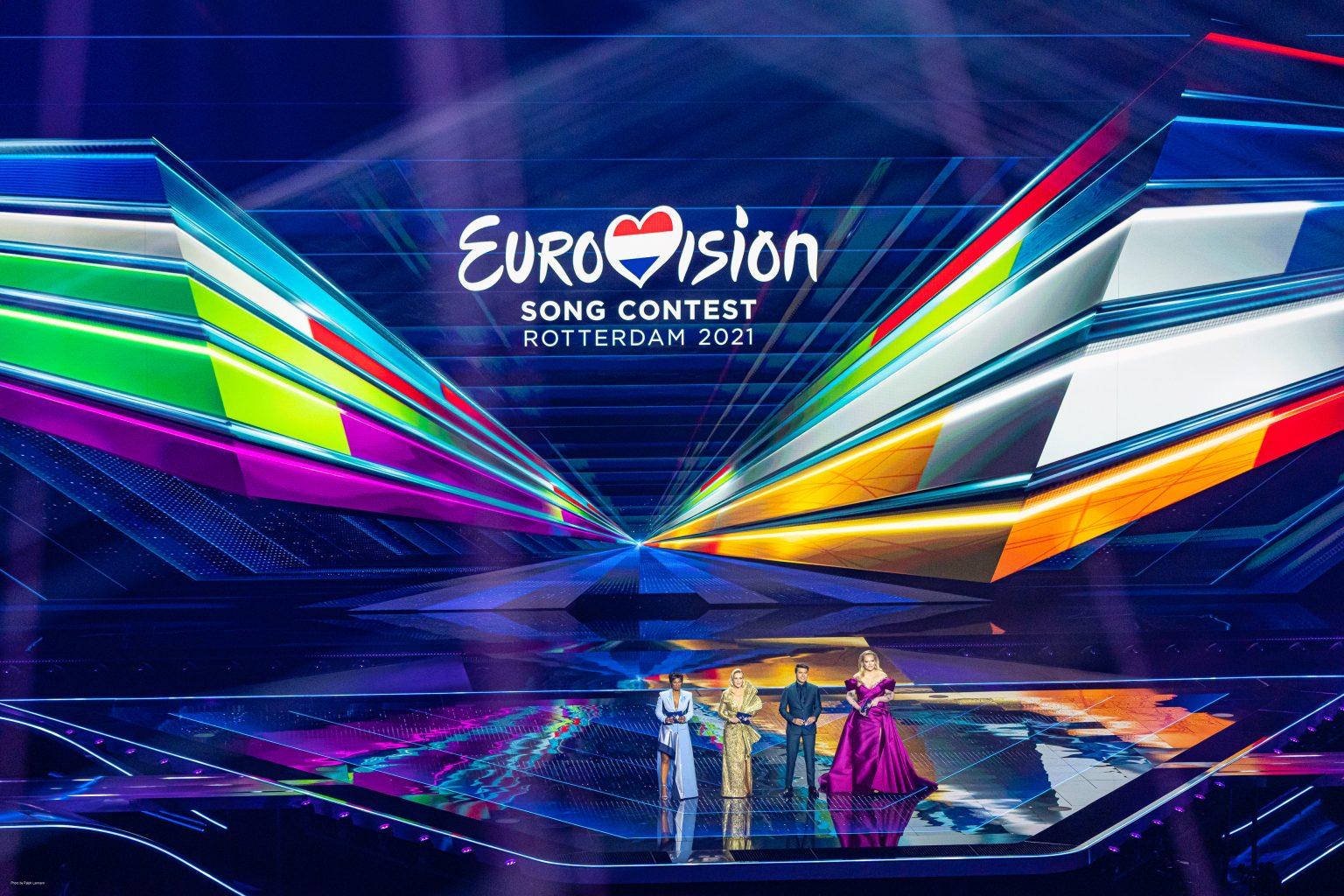 Bild der Bühne vom ESC 2021